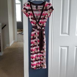 BCBG wrap-style dress